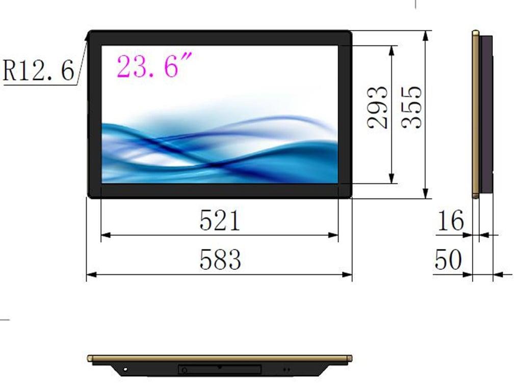 23.6inch digital signage advertising display